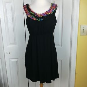 Silence & Noise black dress with braided neck